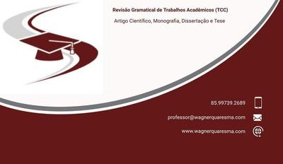 Revisão Gramatical De Trabalhos Acadêmicos