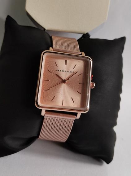 Reloj De Marca Aeropostale Para Mujer Rosa Gold Analogico
