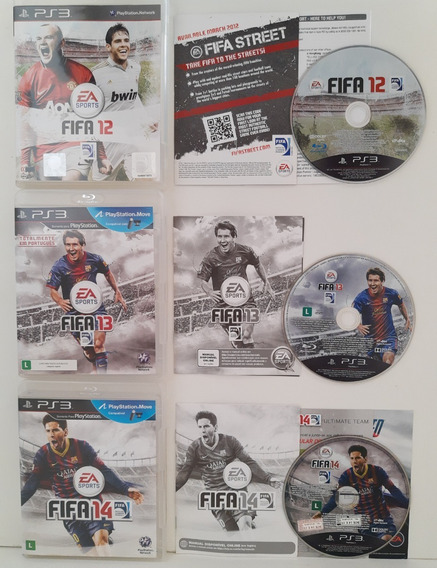 Fifa 12, 13 E 14 Ps3 Mídia Física Usados Playstation 3 Jogos