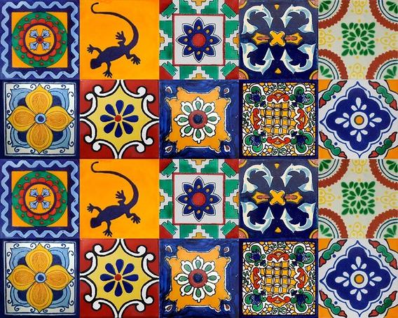 40 Azulejos De Talavera Mixtos 15x15 - Coloridos