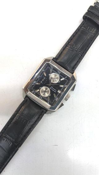 Reloj Seiko De Piel Con Cronógrafo