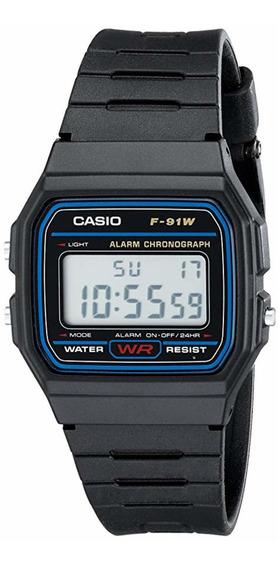 Relógio Casio Masculino Digital F91 Novo Na Caixa Com Manual