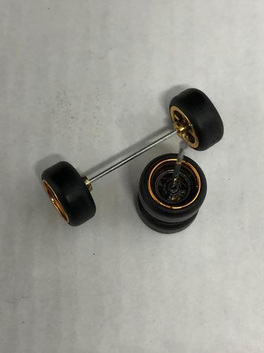 Gomas Para Custom 1:64  Llantas Rin Linea Lisas Hot Wheels
