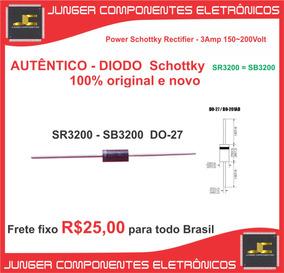 Diodo Schottky - Sr3200 = Sb3200 - 3a/200v Original