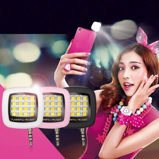 Mini Lampara Luz Flash Led Selfie Portátil Para Telefono