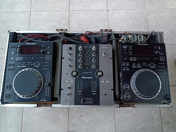 Par Cdj-350 + Mixer Pioneer Djm-250