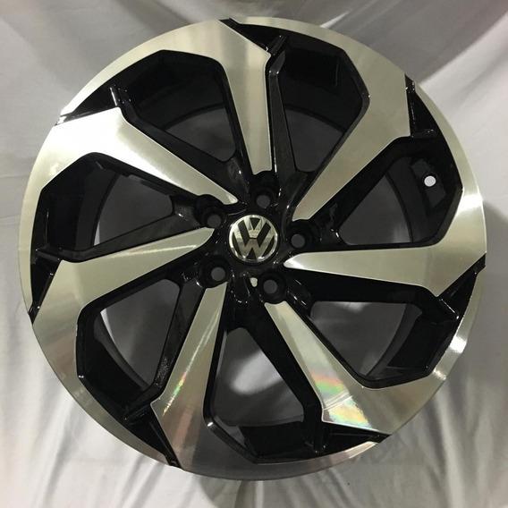 Jogo Roda Aro 17 Vw Golf Gti 5x100 Corolla New Beetle Passat Novo Polo Space Cross Fox Bora + Brindes E Frete Grátis