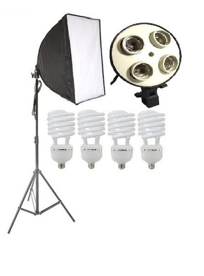 Iluminação 180w Softbox 50x70 Cm Estúdio Para Fotografia