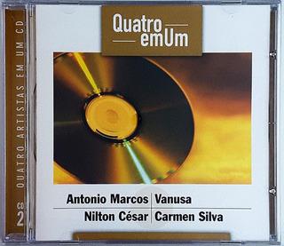 Cd Antonio Marcos Vanusa Nilton Carmen - Quatro Em Um - Ic