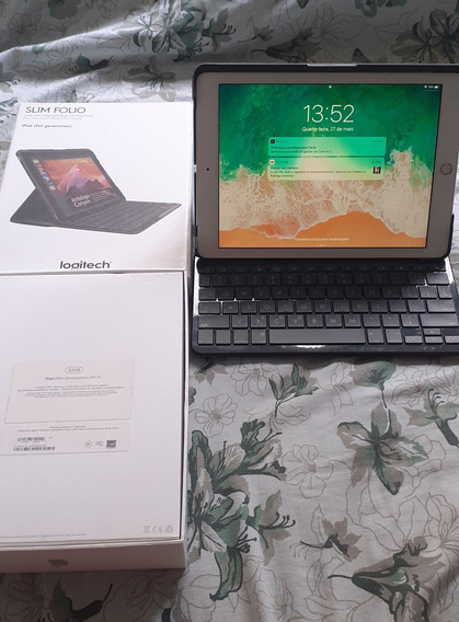 iPad 6 - 32gb + Teclado Slin Folio Logitech