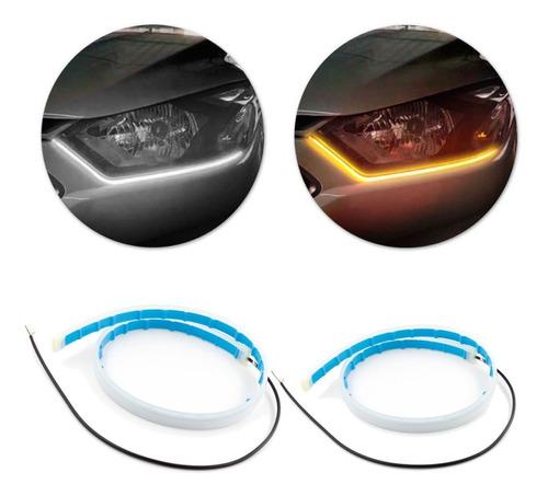 Fita Barra 60cm Led Flexível Lanterna C/ Seta Carro Moto