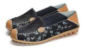 Sapatilha Sapato Calçado Feminino Mocassim Couro Legito