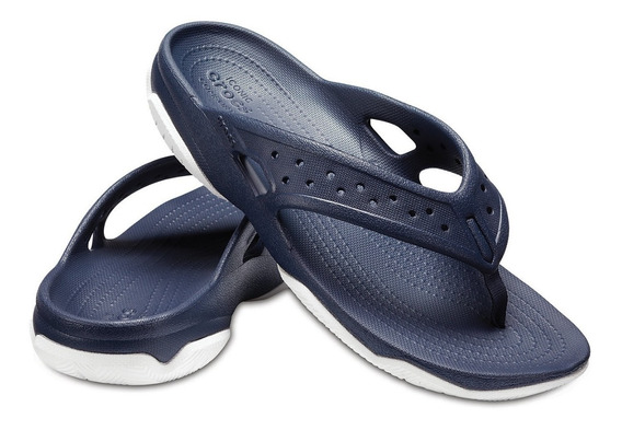 Crocs Sandalia Swiftwater Flip Hombre Color Azul Navy