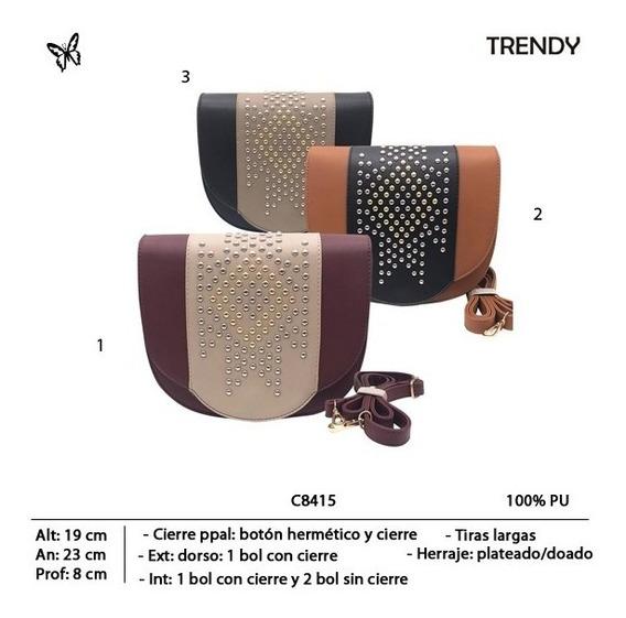 Cartera Trendy Con Tachas 8415