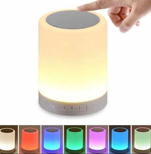 Lampara Bocina Touch Bluetooth Radio Fm Multicolor - T2099