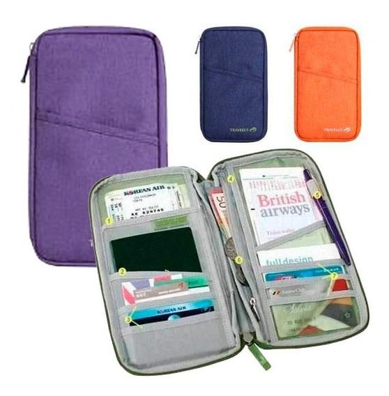 Organizador Viaje Porta Pasaporte Documentos Premium