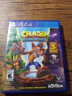 Crash Insane Trilogy Playstation 4 Ps4 Buen Estado !!