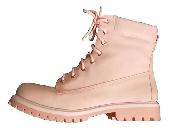 Borcego Bota Botineta Rosa Plataforma Mujer Zapatos