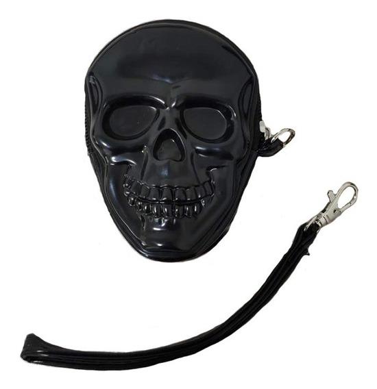 Porta Moeda Skull 3d Caveira