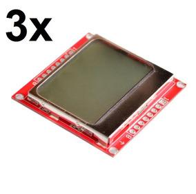 3x Display Lcd Nokia 5110 Para Arduino E Outros!!!