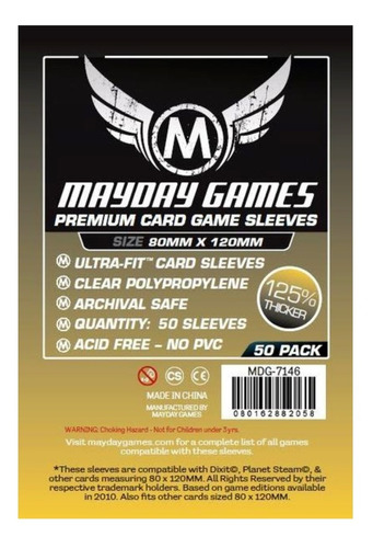 Mayday Dixit Card Sleeves Magnum Ultra Fit 80x120mm- Premium