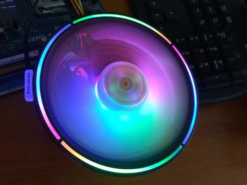 Fan Cooler De Cpu Rgb Icetek, 120mm Para Intel Y Amd. Nuevo!