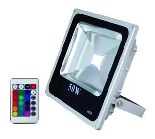 Reflector Led 50 Watts Rgb Multicolor Control Remoto .