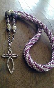 Colar Roxo/lilás/branco