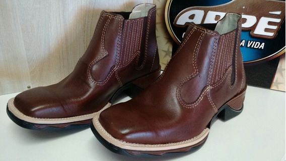 Bota Arpe Ref 2026 Bico Quadrado Latego Chocolate