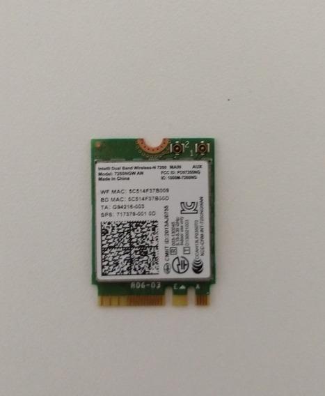 Placa Wireless 7260ngw Intel® Dual Band Wi-fi Bluetooth 4.0