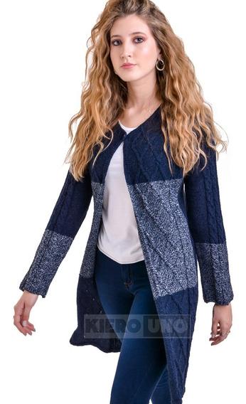 Tapado Largo Cárdiga Un Boton Sweater Saco Mujer Kierouno