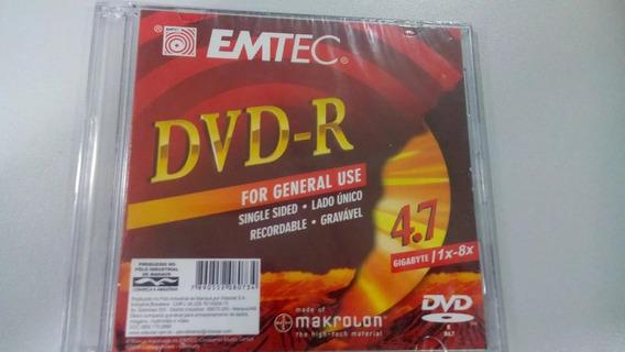 Midia Dvd Emtec 4.7gb Box Slim Videolar