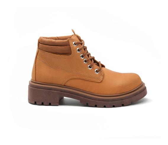 Borcegos Cuero Botas Botinetas Zapatos Acordonado Ms-20