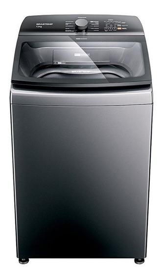 Lavadora de roupas automática Brastemp BWK12A titanium 12kg 127V