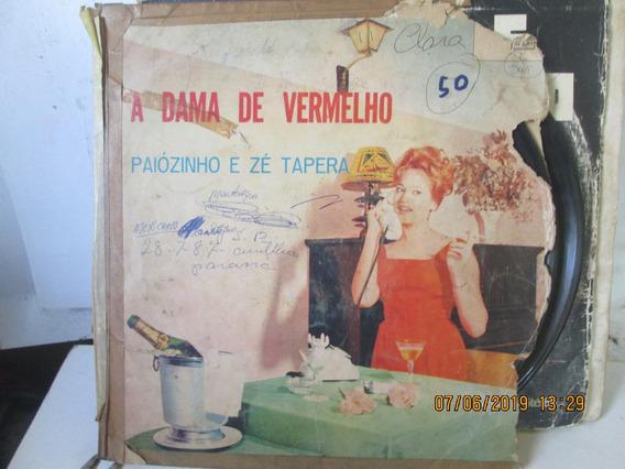 Lp Paiozinho E Ze Tapera A Dama De Vermelho Lpds 32-136-1971