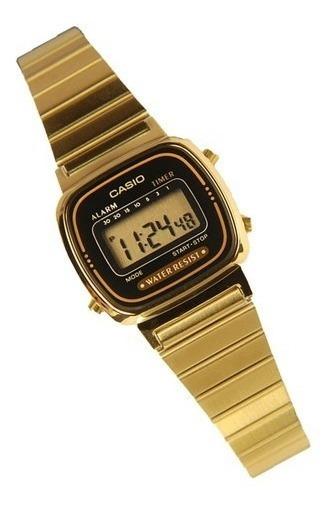 Relógio Casio Feminino Retro La670wga-1df Vintage Mini + Cx