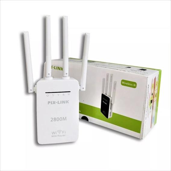 Repetidor De Sinal Wireless 300mbps Com 4 Antenas Lv-wr09