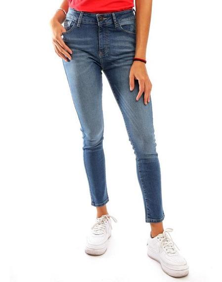 Jeans Skinny Azul Medio