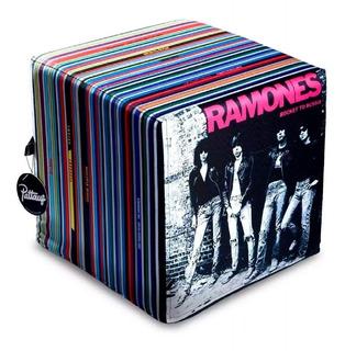 Puff De Diseño Ramones Musical Decorativa Almohadón