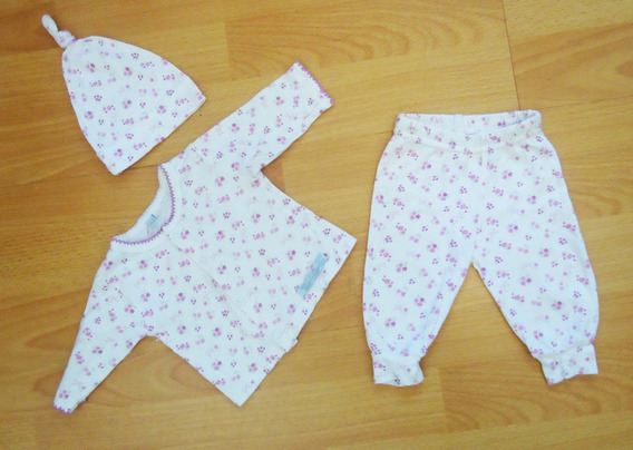 Set Recién Nacido Ajuar 3 Piezas Beba