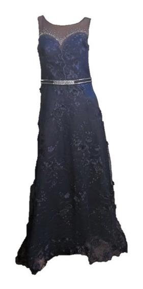 Vestido De Fiesta Azul Noche Fiesta Casamientos Recepciones