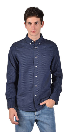 Camisa Classic Fit Chaps Azul Marino 750723008-2yh2 Hombre
