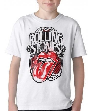 Camiseta Blusa Criança Rolling Stones Nik Jager Personalizad