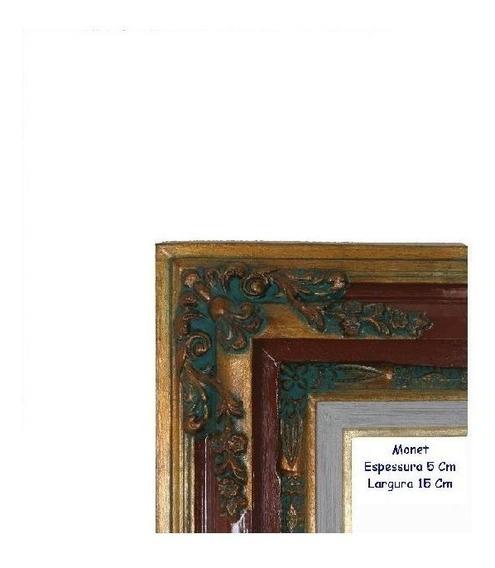 Moldura S Grande De Madeira Envelhecida 50x70 Ref. Monet