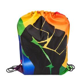 Blueskydeer Gay Pride Rainbow Colors Con Protest Fist Drawst