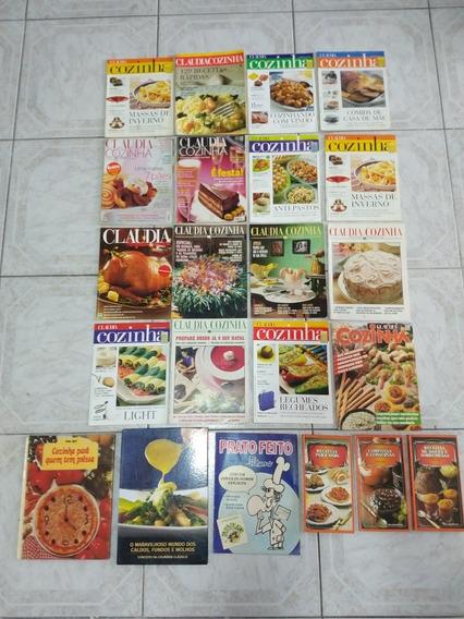 Lote Livros E Revistas Culinária - Claudia Cozinha