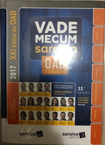 Vade Mecum Saraiva - Oab E Concursos - 11ª Ed 2017