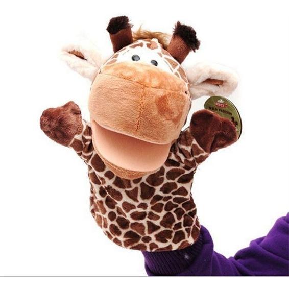 Fantoche Girafa Pelúcia De Mão Teatro Infantil Bebe Criança