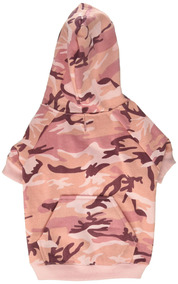 Casual Canine Camo Hoodie For Dogs, 13 Medium, Pink