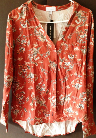 Camisa Kosiuko Mujer M Ladrillo Original Nueva!!!!!!!!